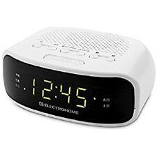 Digital Dual Alarm Clock FM/AM w/Backup Battery - White