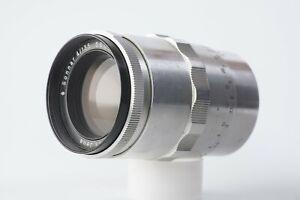 CZ Jena Sonnar Aluminum body vintage telephoto prime lens M42 f/4 135mm *READ*