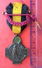 Belgique -Très Jolie et Rare Croix de l' Yser -1914-18 - WWI -Ruban Jaune + Four