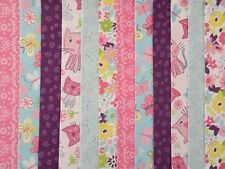 24 JELLY ROLL STRIPS 100% COTTON PATCHWORK FABRIC CHI CHI CAT 22 INCH LONG