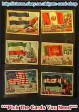 A&BC FLAGS OF THE WORLD (82 X 57MM)  CARDS 1 TO 40 (G/F) *PLEASE SELECT*