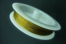 50m Spool Gold Stainless Tiger Tail Beading Wire 0.45mm Jewellery Making Craft