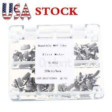 USA 80Pc Dental Buccal Tubes Bracket Bondable 1st Molar Non-Conv MBT 022