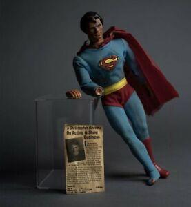 Christopher Reeve Twice Signed Vintage Superman Figure JSA COA & Photo Proof