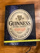 Guiness Beer Lighted Sign Black Ireland Light Bud miller pabst hamms