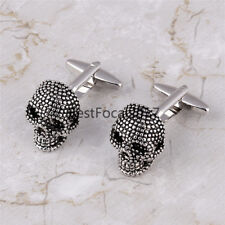 Skull Enamel Shirt Cufflinks Cool Fancy Clothes Deco Links Men's Jewelry Fashion
