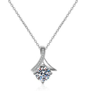 Fahion Large Crystal Zircon Necklace Silver Plated Jewelry Girls Party Jewelry