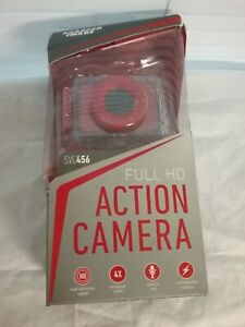 Sharper Image SVC456 Full HD Action Camera color RED 4x digital Zoom