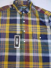 GITMAN BROS VINTAGE Popover Madras Shirt M $195 New With Tags Made In USA
