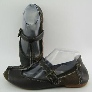 Womens Diesel Tulip Leather Ballet Slip on Flat Shoes Size 7.5 / 38