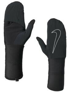 Nike Transform Running Gloves Women's Medium Black/Black/Silver