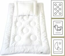 Babyset Kinder Bettdecke Baby Set Steppbett + Kissen Ringe 100x135cm + 40x60cm