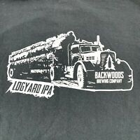 BLACKWOODS BREWING Mens Size Small Logyard IPA Black T-Shirt