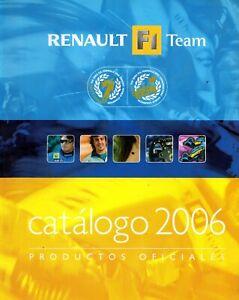 RENAULT F1 Team CATALOGO 2006 PRODUCTO OFICIAL FERNANDO ALONSO