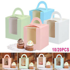 10/20X Muffin Cupcake Cake Packing Box Case Wedding Party Container Clear Window