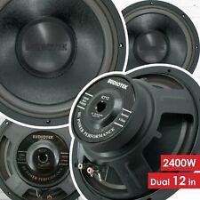 Pair of Audiotek 12 Inch 2400 Watt Car Audio Subwoofer w/ 4 Ohm Power (2 Woofer)