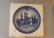 Vintage Royal Copenhagen 1972 Olympic Games Munich souvenir plate