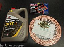Copper Brake Pipe Kit Nuts 3/16 Liquide de Freins DOT4 - 5 L virgule & torchage outil