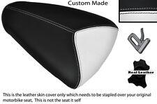 WHITE & BLACK CUSTOM FITS APRILIA RSV MILLE 98-00 REAR PILLION SEAT COVER