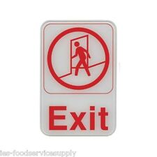 New listing Exit Sign Red and White 6 X 9 adhesive door wall sign - Information Symbol Fire