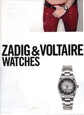 PUBLICITE 2011 ZADIG & VOLTAIRE montres watches