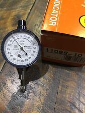 Mitutoyo No 1109s 10 Metric Compact Dial Indicator 1mm Small Diameter