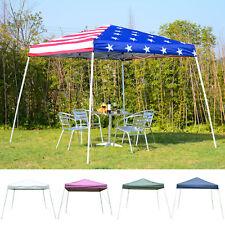 10' x 10' Ez Pop Up Canopy Outdoor Slant Leg Wedding Party Tent Folding Gazebo