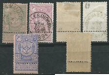 Belgium Belgica Scott # 76/78 (o) 1894