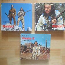 3 x Karl May Filmbildbände Filmbildbücher  Winnetou 1-3