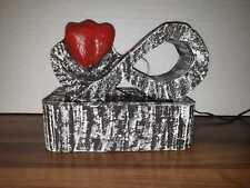 Zimmerbrunnen Love UNIKAT Brunnen LED Infinity Herz Valentinstag Geschenk GRAVUR