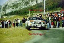 Stig Blomqvist Audi Quattro A1 Monte Carlo Rally 1983 Photograph 1