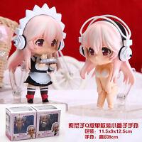 Super Sonico set of 2pcs housemaid  figures figure PVC doll Figurine states new
