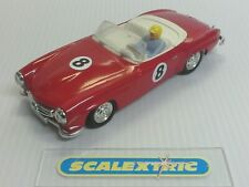 SCALEXTRIC Tri-ang 1960's C75 MERCEDES 190SL BRIGHT RED #8 (TOTAL MAKEOVER)