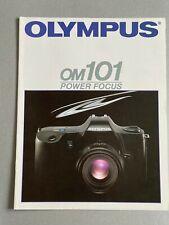 Olympus OM101 Autofocus. 35mm Film  Camera, A4 Paper Brochure, 16 Pages