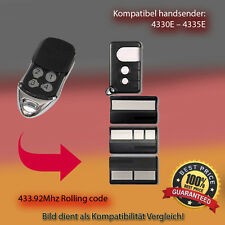 Handsender kompatibel zu Garagentor  4330E,4332E,4333E,4335E  433,92Mhz