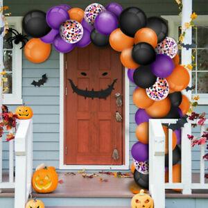 129pc Set Halloween Balloon Arch Kit Garland Confetti Latex Balloons Party Decor