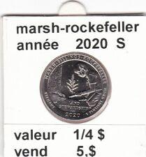 pièces de 1/4 $  marsh-rockefellerde 2020 S