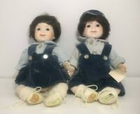 Brinn's Twins Dolls Porcelain Boy & Girl  Doll Set Vintage