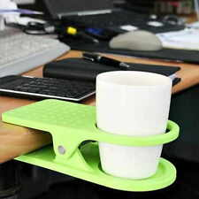 Home Office Use Drink Cup Party Coffee Glass Cup Holder Stand Clip Desk Table
