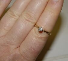 IGI 0.25CT Natural Diamond mini engagement/promise Ring 14K s-7