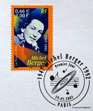 MICHEL BERGER Yt 3395 OBLITERATION 1er JOUR  NOTICE PHILATELIQUE