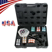 US 71550 A/C Hose Crimper Tool Kit Manual Hydraulic Crimper Protable Crimping CE
