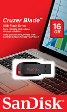 Sandisk CRUZER BLADE 16GB SDCZ50-016G-B35 USB 2.0 Flash Pen Drive 16G NEW Micro