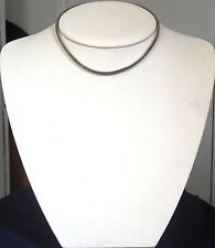 DESIGNER ITALY, STERLING SILVER, LADY'S FLEX, COLLAR NECKLACE