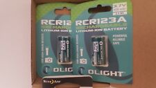 2-Pack: Olight RCR123A Rechargeable Batteries PLUS NITE IZE SQUEEZE LIGHT