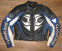 HEIN GERICKE Motorrad - Lederjacke / Biker- Jacke in schwarz- blau ca. Gr. 52
