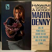"""MARTIN DENNY - Hawaii Goes A-Go-Go - 12"""" Vinyl Record LP - EX"""