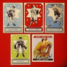 Bailey/Primeau/Jackson/Horner/Conacher (Rookie Reprints) -1930's- Parkhurst -Lot