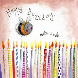 "Alex Clark 'Sunshine Buzzday' Birthday Card - 120mm x 120mm (4.75"" x 4.75"")"