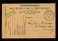FRANCE 1919 ARMY STATIONERY ST GERMAIN en LAYE PEACE CONGRESS SPECIAL PMK...L2
